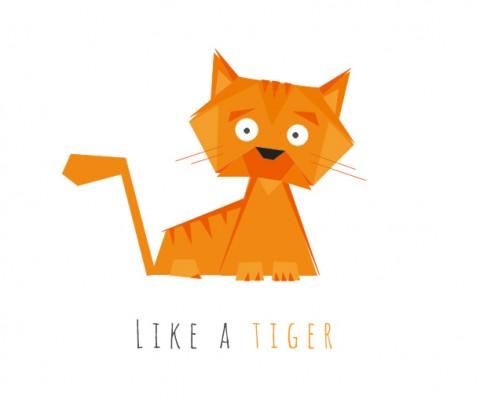 ilustracja kot geometryczna