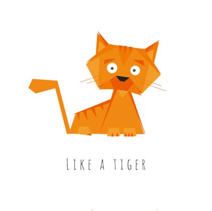 Ilustracja wektorowa: kot