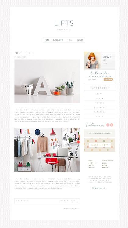 Minimalistyczny szablon blogowy