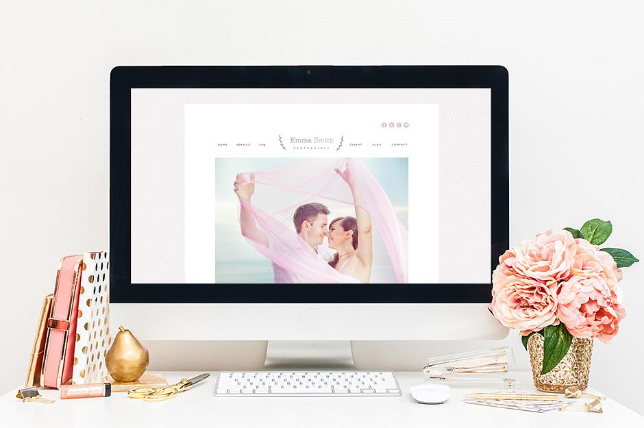 projekt strony internetowej urocza kobieca
