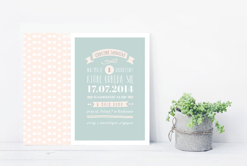 projekt graficzny zaproszenia urodzinowego