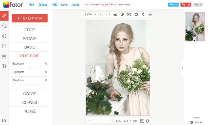 edytor zdjęć online fotor