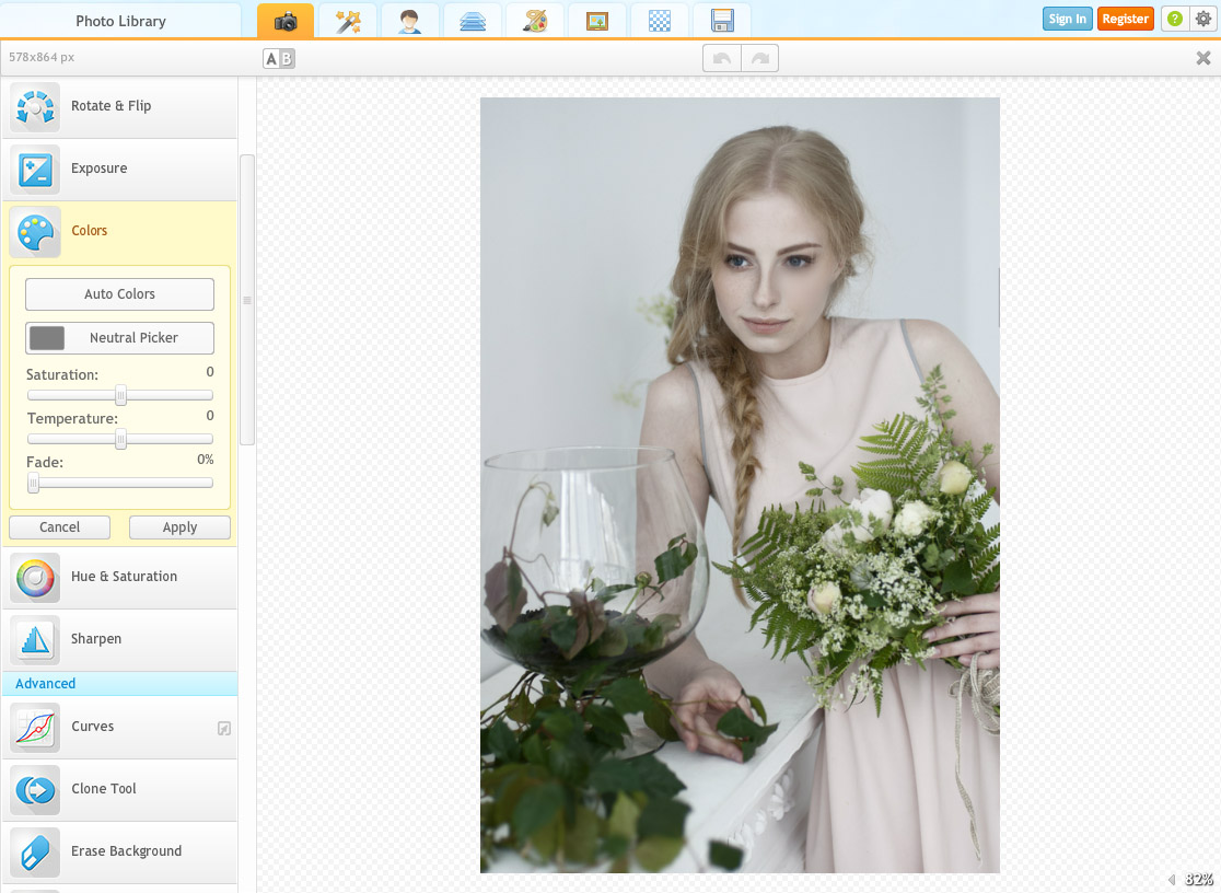 ipiccy - programy do obróbki zdjęć online