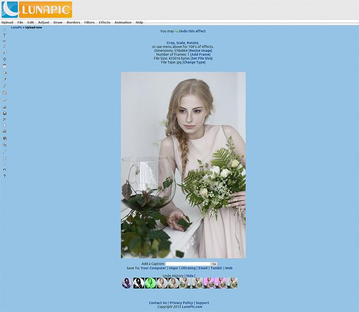 lunapic  -program do edytowania zdjęć online