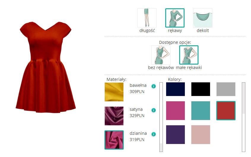 projekt sukienki sklep internetowy