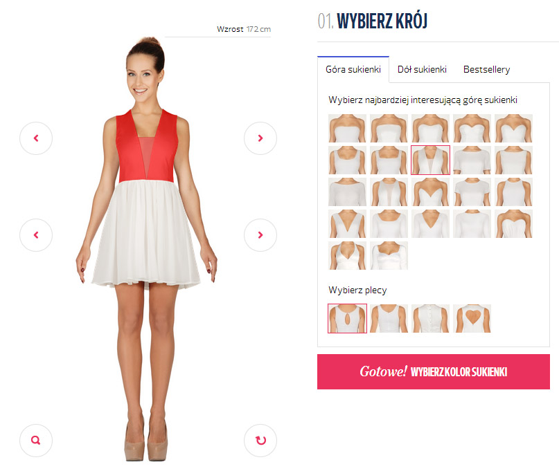 projekt sukienki sklep