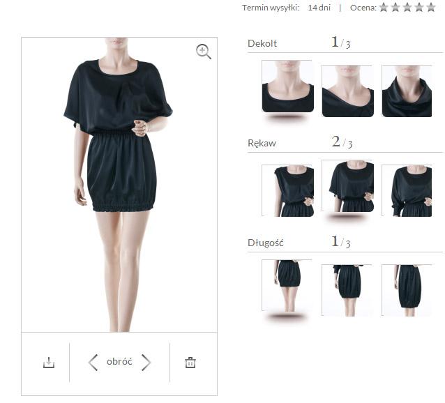projekty sukienek sklep internetowy