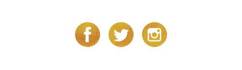 ikony społecznościowe złote glitter