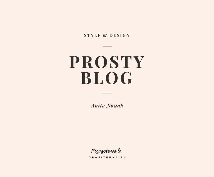 minimalistyczne logo na bloga