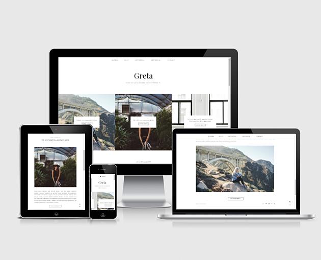 szablon na bloga responsywny i minimalistyczny
