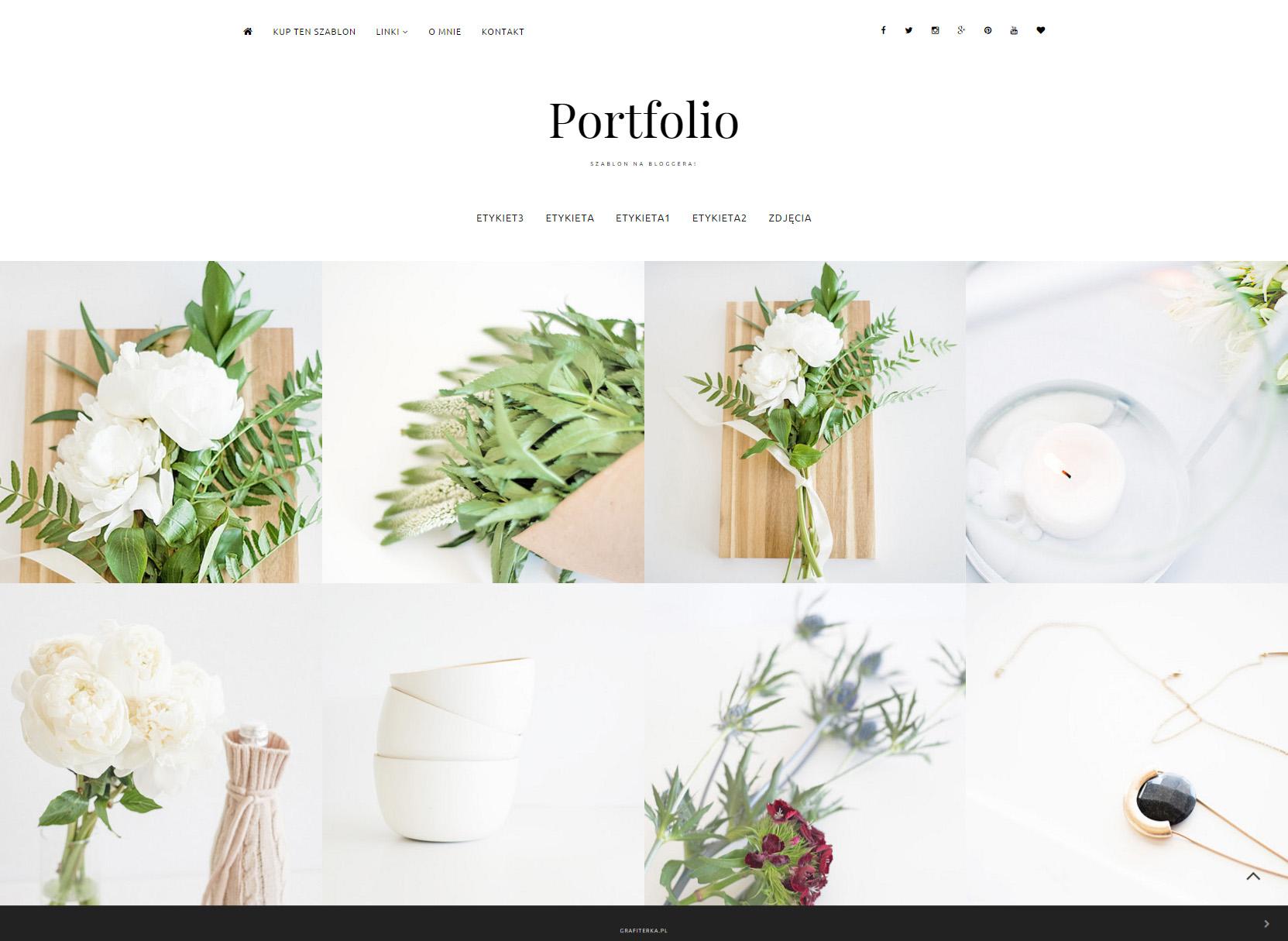 szablon Blogger portfolio fotografia