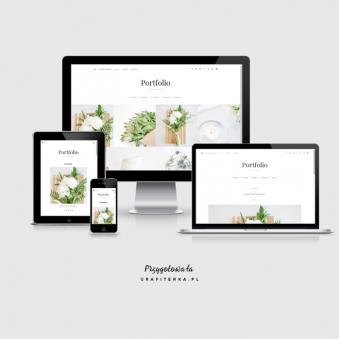 szablon na bloga Blogger portfolio